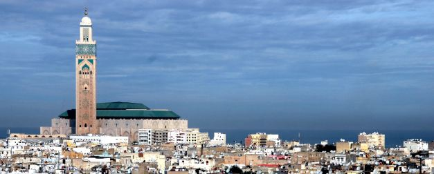 The Hassan II Mosque dominates the skyline of Casablanca