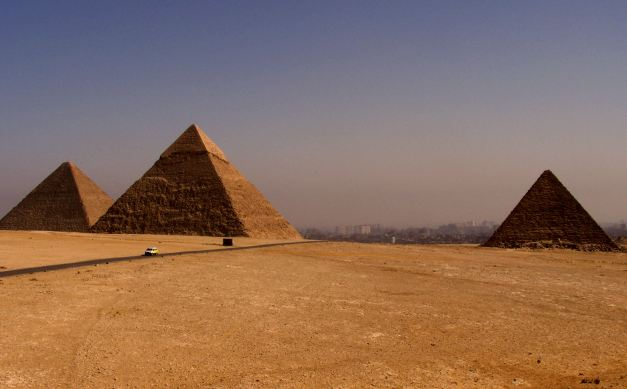 The Pyramids of Giza, one of the Seven Wonders of both the Ancient and Modern World