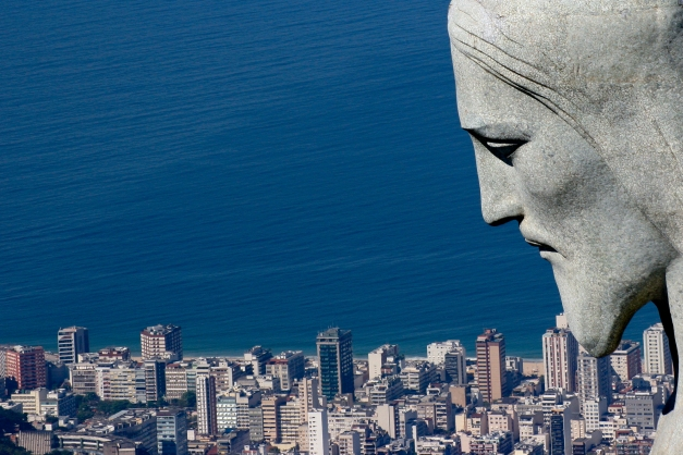 The Statue of Christ the Redeemer atop sugarloaf Mountain is an international symbol of Brazil