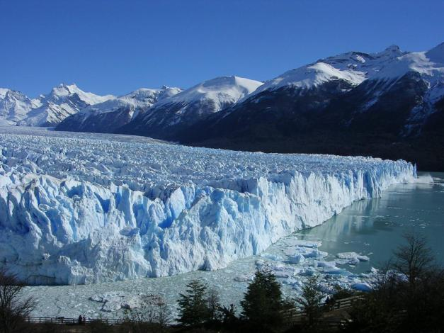 The Perito Merino Glacier is one of several glaciers in Argentina that attract tourists