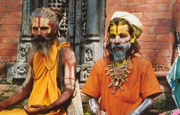 A pair of Sadhus (Holy Men)