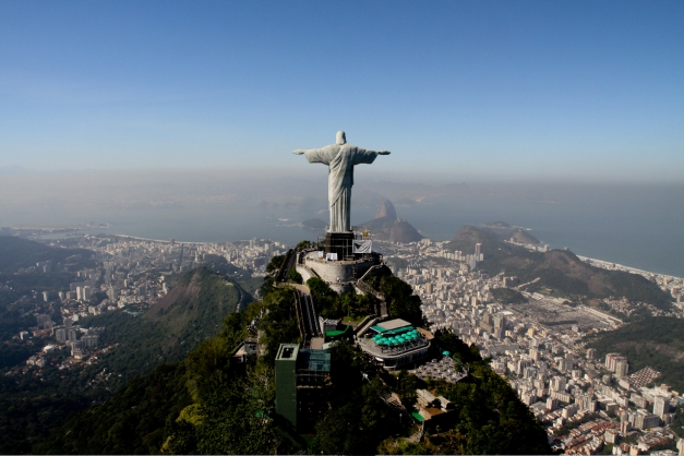 Christ the redeemer atop sugarloaf mountain is an easily recognizable sight of Rio de Janeiro