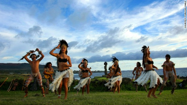 Local Festival Dance at Easter Island