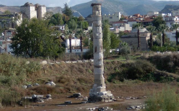 Little remains of the Artemission Temple near Ephesus