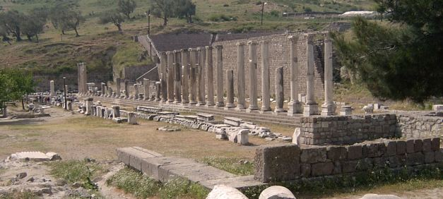 The Asklepion is a highlight of many tours to Pergamum