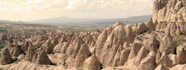 Cappadocia is known for its unusual rock formations