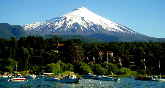 The Villarrica Volcano outside of Pucon