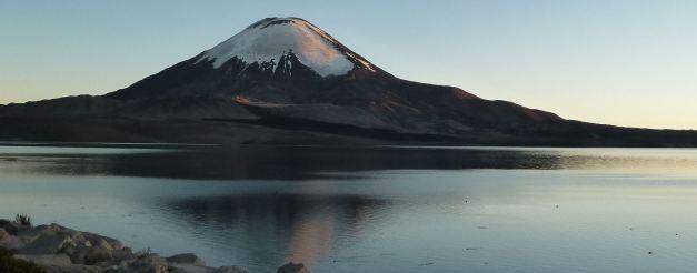 Chungara Lake in Northern Chile