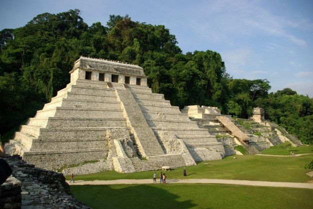 The archaeological zone of Palenque, one of the most important cities of the Maya Culture
