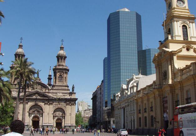 """The """"Plaza de Armas"""" in Santiago"""