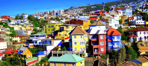 Valparaiso is known for its colourful houses