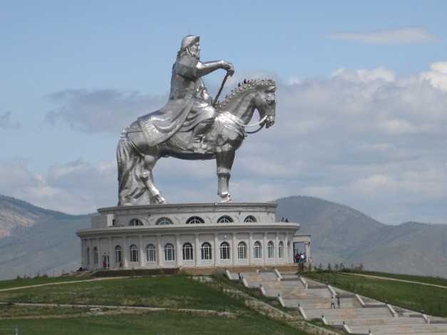 Statue of Ghengis Khan, still viewed as the most famous Mongolian of all time