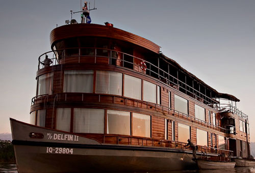 The Delphin II is a popular cruise choice ex-Iquitos