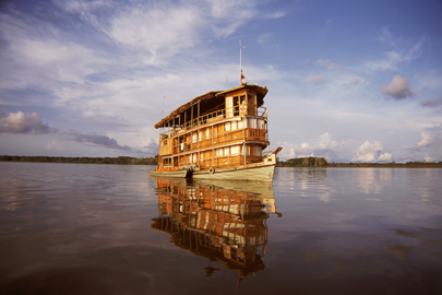 The Delphin I is one of a few cruise vessels to ply the Amazon ex-Iquitos