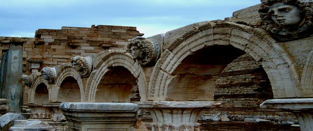 An ancient Aqueduct at Leptis Magna