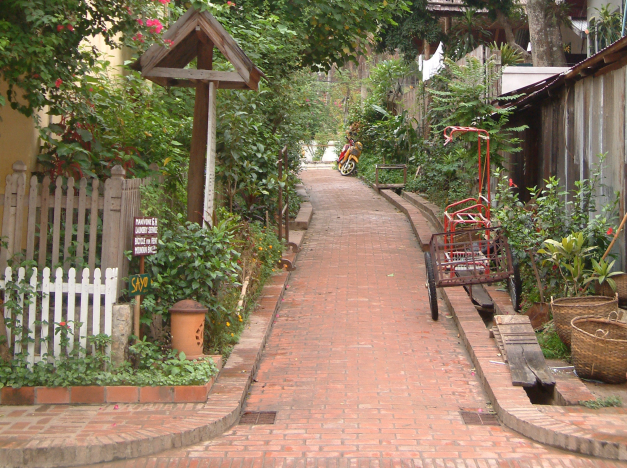 A Back Alley In Luang Prabang