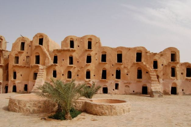 The Berber Graneries of Matmata were used as the Slave Quaters in Mos Espa