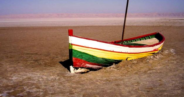 The Chott El Jerid Salt Lake is known for its Mirages
