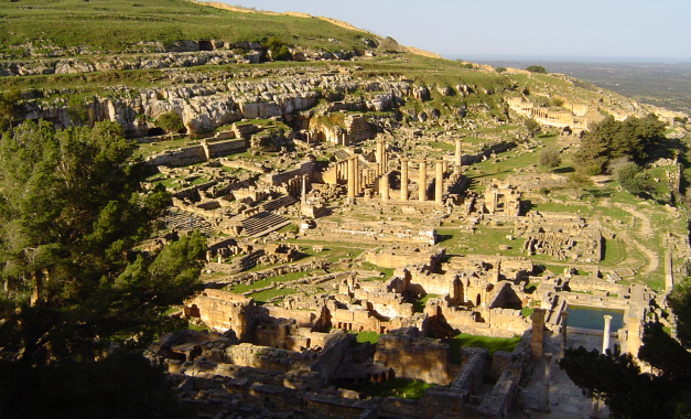 Looking down upon the ruins of Cyrene