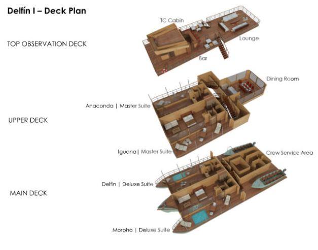 Delfin 1 Deck Plan