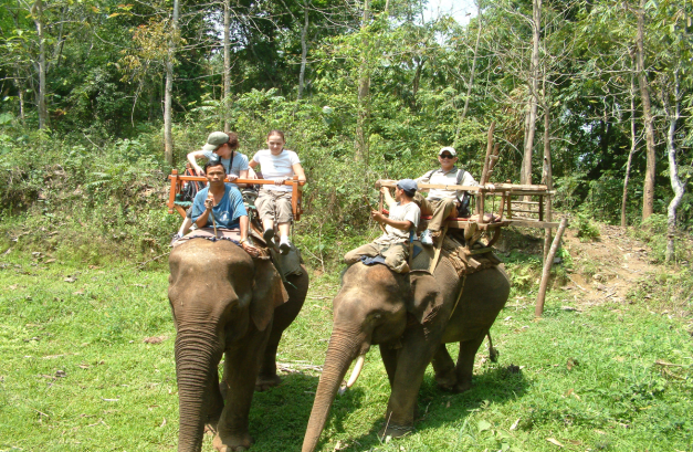 If you get a chance, why not try riding Elephants outside Luang Prabang