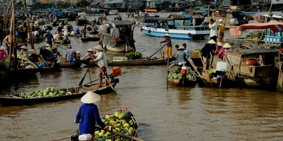 The Mekong is a vital lifesource in Southern Vietnam, providing food, trade and travel routes for the locals.
