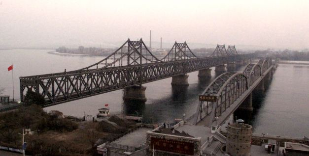 Friendship Bridge connecting China and North Korea