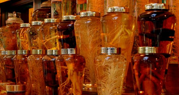 Ginseng is an important product and export in Korea