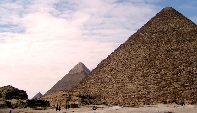 The Pyramids of Giza are amongst the worlds most instantly recognisable sites