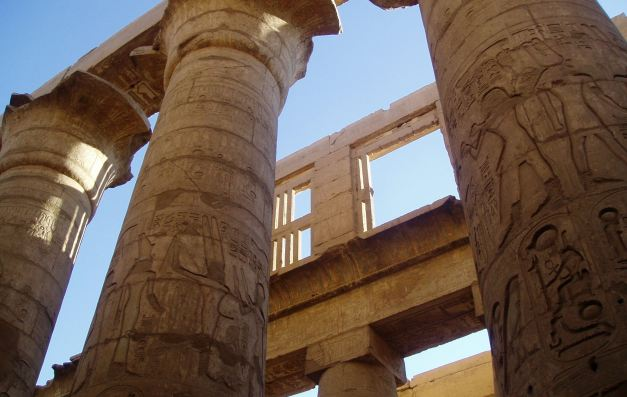 The Hypostyle Hall at the Temple of Karnak