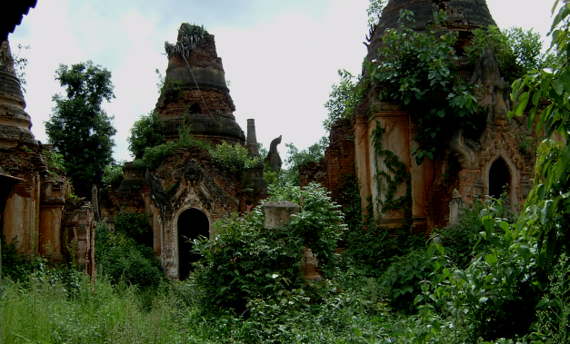 The ruins at Indain lie just off of Inle Lake