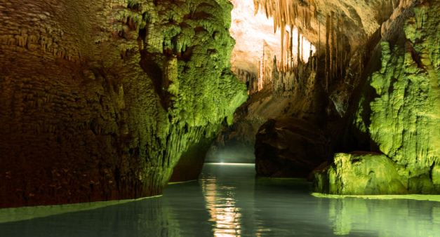 The Jeita Grotto cavern complex is filled with some incredible rock formations