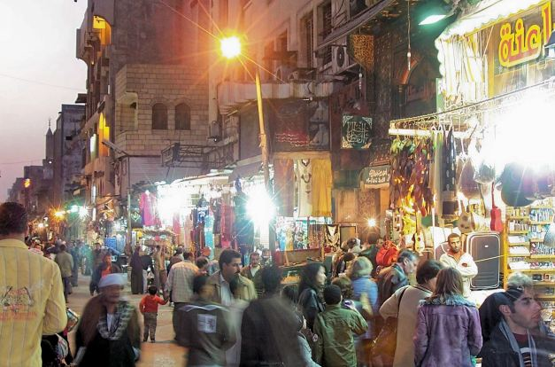 The streets of Khan el Khalili Bazaar