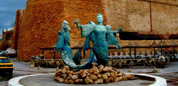 Mermaids Statue in Hammamet
