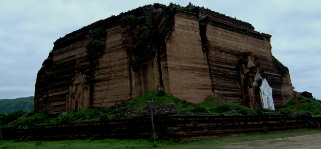 The  unfinished Zedi at Mingun would have been the largest in the world if completed