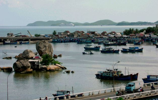 The seaside town of Nha Trang