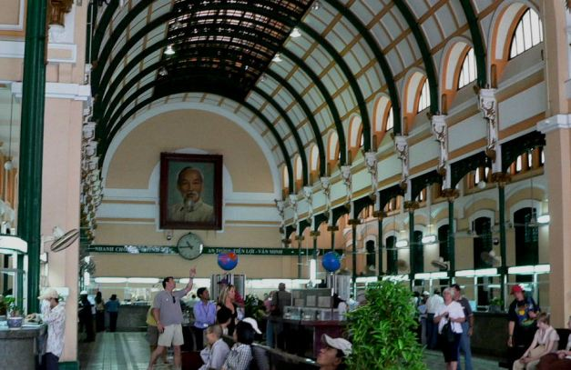 Interior of the Old Post Office in Saigon