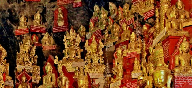 The Limestone caves at Pindaya are filled with religious icons