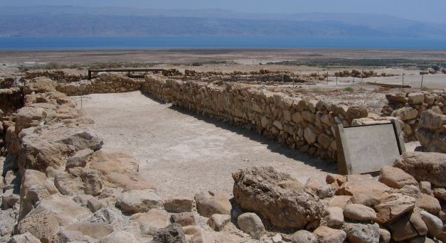 Qumran was the location at which the Dead Sea Scrolls were located