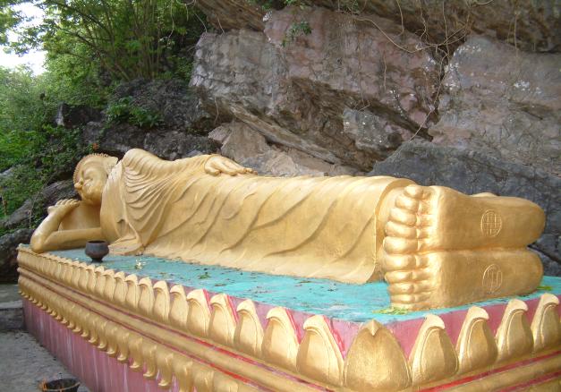 Reclining Buddha, Wat Phousi, Luang Prabang