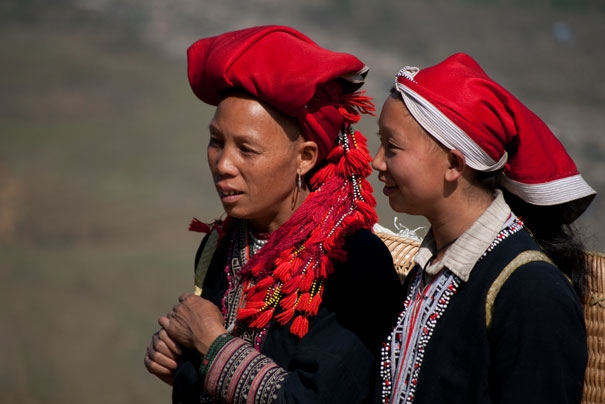 Red Dao women in Sapa