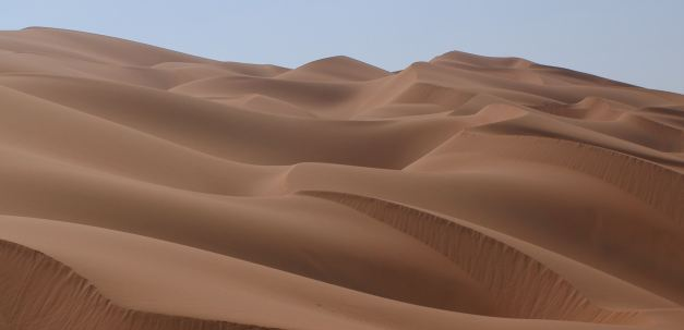 The sand dunes outside of Rub Al Khali