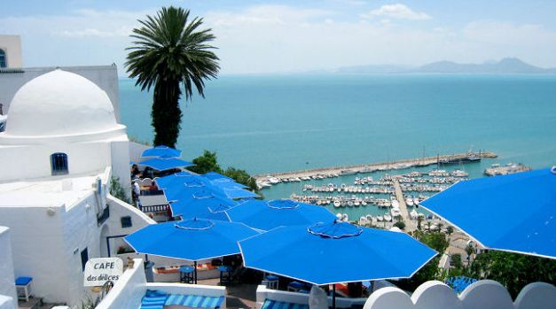 The town of Sidi Bou Said heavily reflects its Andalusian Heritage