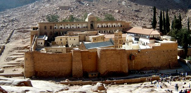 Saint Catherine Monastery at the base of Mount Sinai