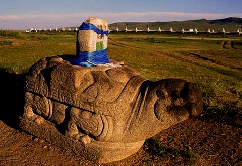 Stone Tortoise at Erdene Zuu