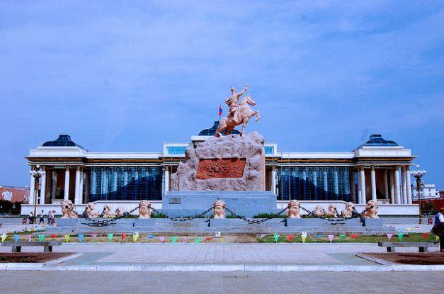 Sukhbaatar Square, the heart of Ulaan Baatar