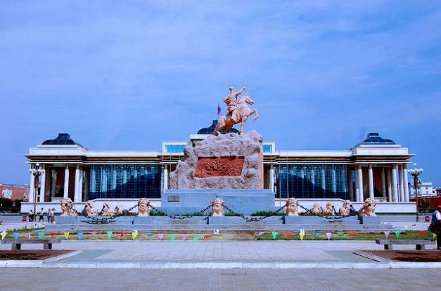 Sukhbaatar Square, the heart of Ulaan Baatar