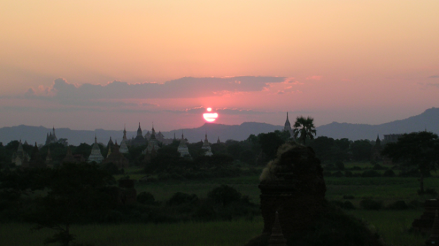 Sunset viewing in Bagan is a popular pastime