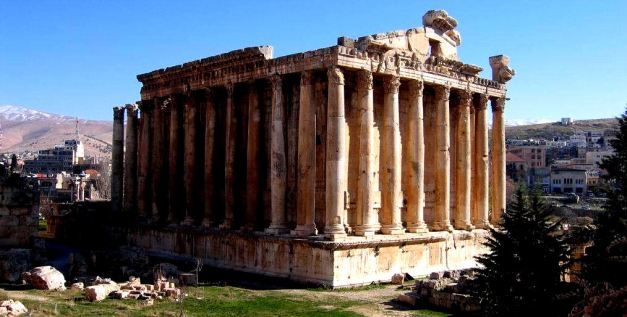 The Temple Of Bacchus is one of the temples still intack at the Baalbek Complex
