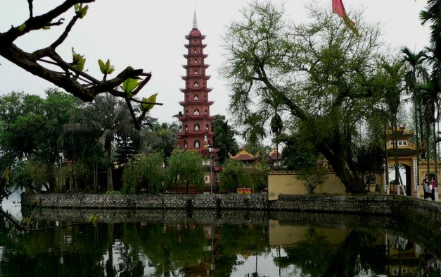 The Tran Quoc Pagoda in Hanoi